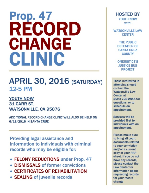 April 30th Record Change Clinic